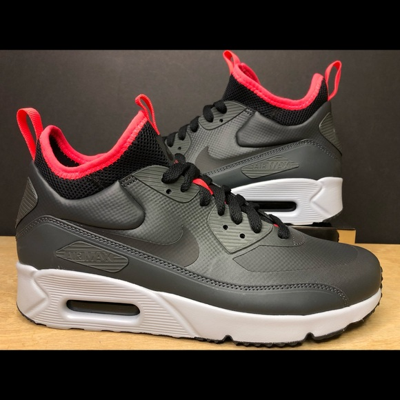 big sale 0d40f 0ca11 Nike Air Max 90 Ultra Mid Winter Anthracite Black NWT
